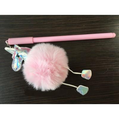 Ручка гелевая с брелком Единорог, цвета в ассортименте