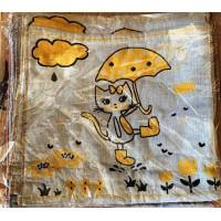 """Полотенце для рук """" Коты """" , размер 35x35 см"""