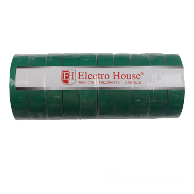 Изолента зеленая 0,15мм х 18мм х 25м