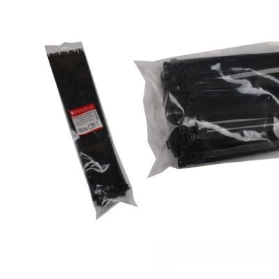 Стяжка кабельная черная 8x550мм. 100шт./п