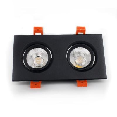 LED светильник потолочный чёрный двойной 5W угол поворота 45° 4100К