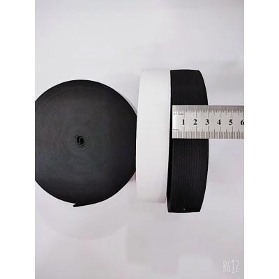 Резинка широкая 3см, на бобине 25м, цвет белый и чёрный