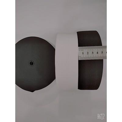 Резинка широкая 5см, на бобине 25м, цвет белый и чёрный