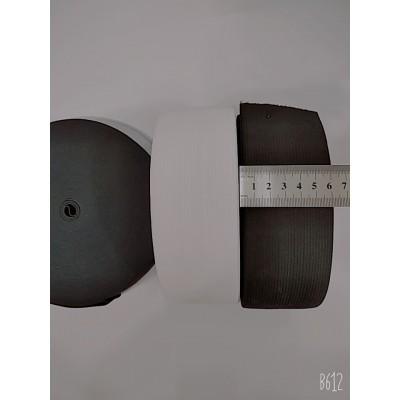 Резинка широкая 6см, на бобине 25м, цвет белый и чёрный