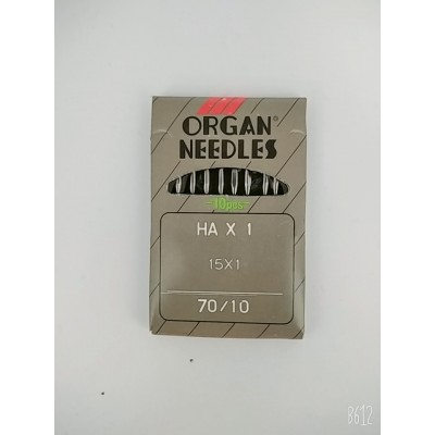 Иглы для бытовых швейных машин №70/10 ORGAN NEEDLES  цена за упаковку из 10 штук