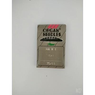 Иглы для бытовых швейных машин №75/11  ORGAN NEEDLES  цена за упаковку из 10 штук