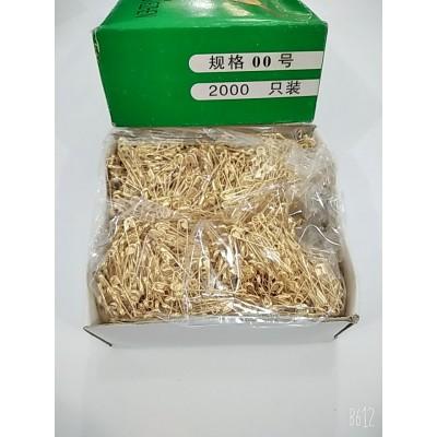 Булавки английские золотистые в упаковке 2000штук, длина булавки 2см.