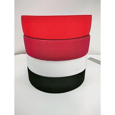 Резинка декоративная, ширина 6см, в бобине 25метров, цена за бобину, цвета есть разные