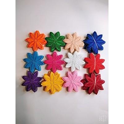 Термо  наклейка нашивка аппликация для одежды цветочки 120шт. цена за упаковку