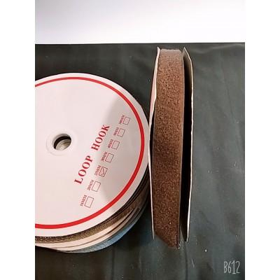 Лента-липучка 25м / 2,5см ширина / цвет коричневый / цена за бобину