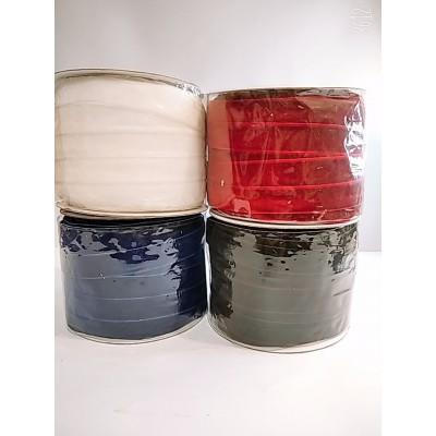 Косая бейка велюровая бархатная 2см, 50 ярдов, разные цвета, цена за бобину