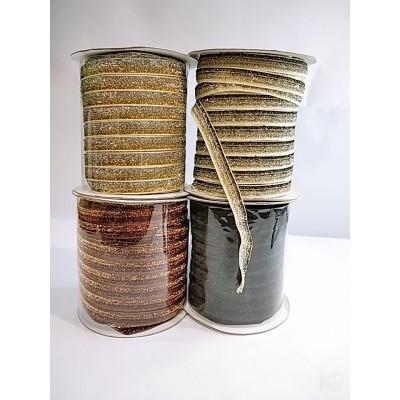 Косая бейка велюровая бархатная с люрексом 2см, 50 ярдов, цвета разные, цена за бобину