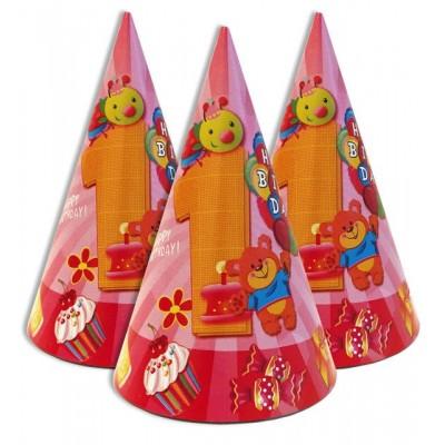 """Колпачки праздничные, маленькие """" Первый годик розовый """""""