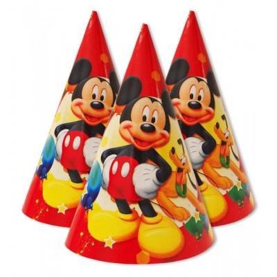 """Колпаки праздничные, маленькие """" Микки Маус красный """""""