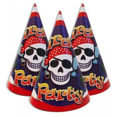 """Колпачки праздничные, маленькие """" Пираты """""""