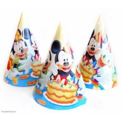 """Колпачок праздничный, маленький """" Микки и его друзья """""""