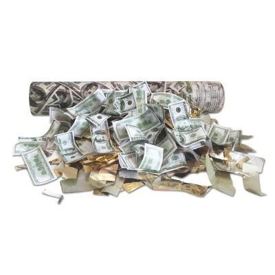 Хлопушка пневматическая с долларами длина 30 см