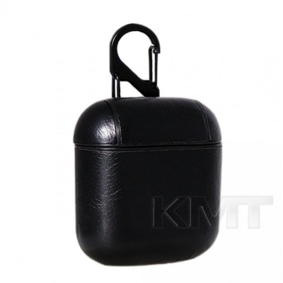 Leather Case For Airpods 1/2 — Black