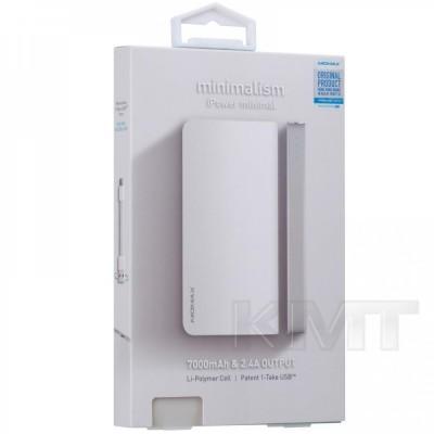 Momax (IP53) iPower Minimal Power Bank (7000 mAh)  — White