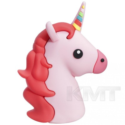 EmojiSeries Unicorn PowerBank (8800mAh) — Pink