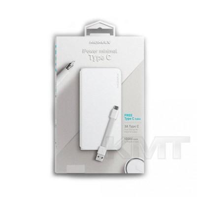 Momax iPower Minimal Type C Power Bank (10000 mAh)  — White