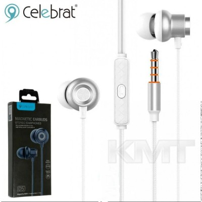 Celebrat D5 Hands Free With Mic — Silver
