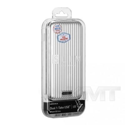 Momax (IP56) iPower Go Slim Luggage Power Bank (10000 mAh)  — White