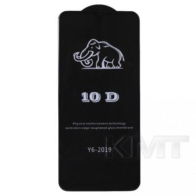 Защитное стекло 10D Huawei Y6 2019 (Black)