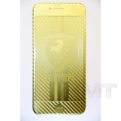 Защитное стекло Gold iPhone 5S с рисунком Ferrari
