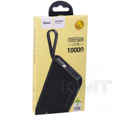 Hoco J25B New Power Type C Power Bank — 10000 mAh  — Black