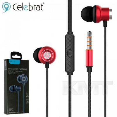 Celebrat D5 Hands Free With Mic — Red