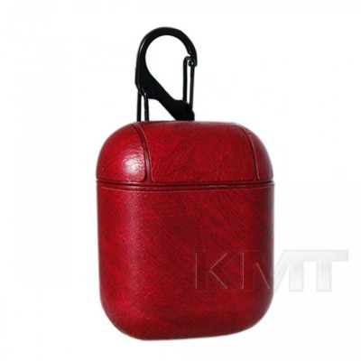 Leather Case For Airpods 1/2 — Red