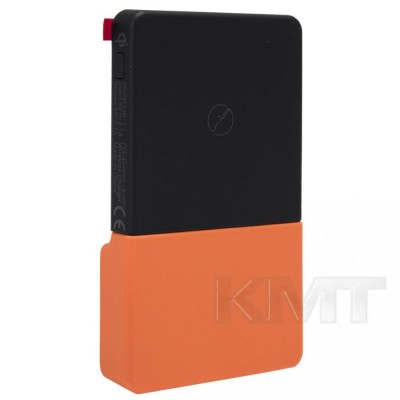 Lebtech PowerBank Wireless charger — 3000 mAh— Black/Orange