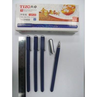 0.5 Ручка гелевая, колпачок, антискольж  black TG31032