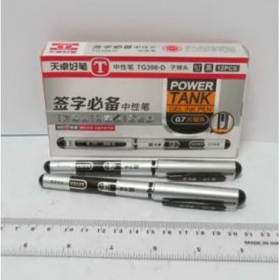"""0.7 Ручка гелевая """"Black and silver"""" черный TG396D"""