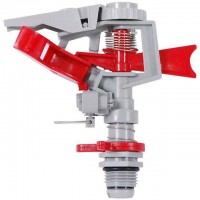 Дождеватель пульсирующий с полной/частичной зоной полива, круг/сектор полива до 12м, PP, ABS Intertool GE-0065