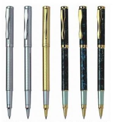 Ручка  мет. перо  BAIXIN FP-918 ( мрамор с зол. )