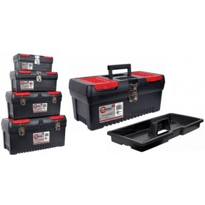 Комплект ящиков для инструментов с металлическим замком Intertool BX-0004 - 4шт