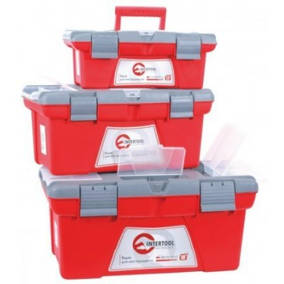Комплект ящиков для инструментов Intertool BX-0503 с металлическим замком 3шт