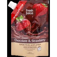 FJ Крем-гель для душа Chocolate&Strawberry ДОЙ-ПАК 200мл