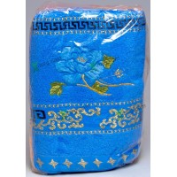Полотенце «Цветок» для бани 70х140, махра, цвета в ассортименте