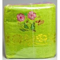 Полотенце «Роза» для бани 70х140, махра, цвета в ассортименте