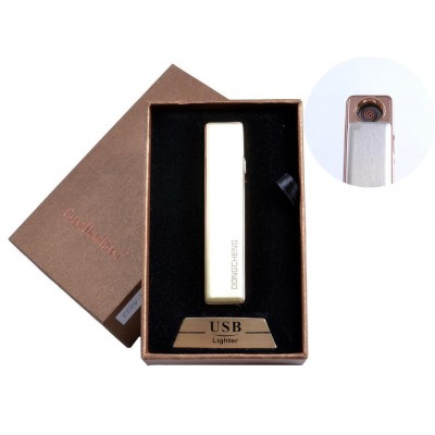 USB зажигалка в подарочной упаковке (спираль накаливания, жёлтый) №4822-5