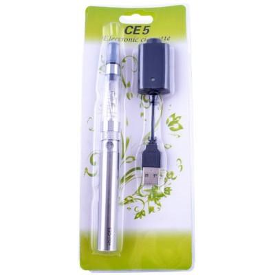 Электронная сигарета CE-5, 650 mAh (блистерная упаковка) №609-39 Silver