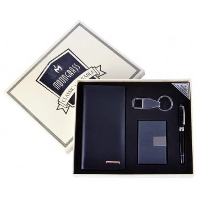 Подарочный набор Moongrass Портмоне/ Визитница/ Брелок/ Ручка №NB-049