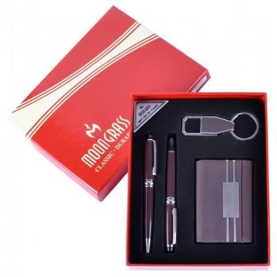 Подарочный набор 4в1 Moongrass Визитница/ Ручка/ Брелок №NB-404