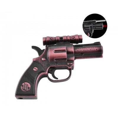 Зажигалка газовая пистолет Python 357 (Турбо пламя, Фонарик) №XT-3930 Bronze