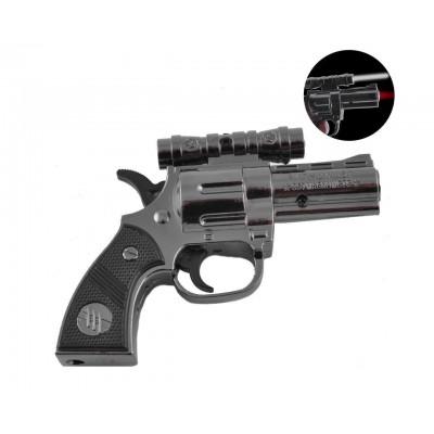 Зажигалка газовая пистолет Python 357 (Турбо пламя, Фонарик) №XT-3930 Black