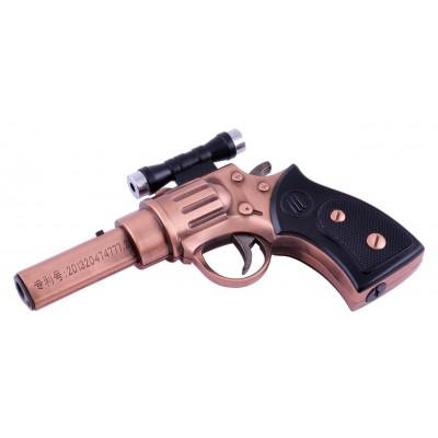 Зажигалка газовая Пистолет Револьвер с лазером (Острое пламя) №4424