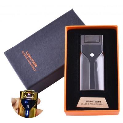 Зажигалка в подарочной коробке Lighter (Двойная молния) №HL-50 Black